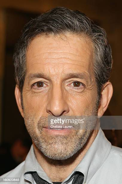 Designer Kenneth Cole prepares backstage at the Kenneth Cole Collection Fall 2013 fashion show during MercedesBenz Fashion Week at 537 West 27th...