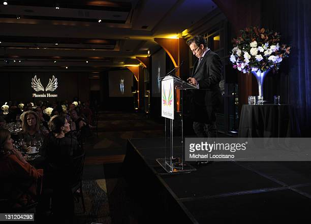 Designer Kenneth Cole speaks during the 2011 Fashion Awards Dinner to benefit Phoenix House at Pier Sixty at Chelsea Piers on November 2 2011 in New...