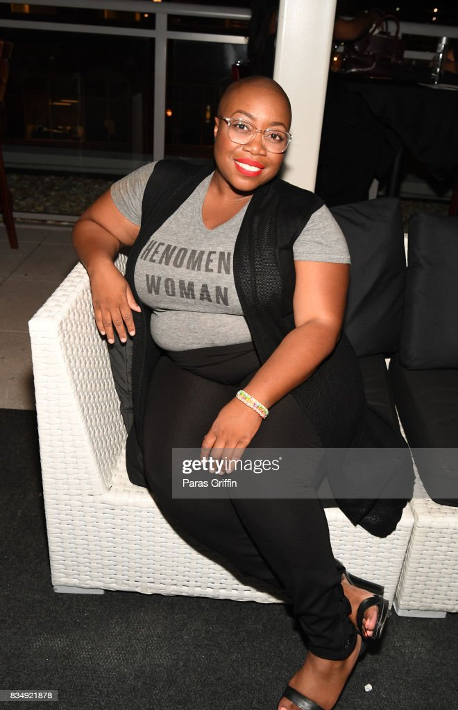 Designer Kenya Freeman at 'Project Runway' Season 16 Watch Party at The League Tavern on August 17, 2017 in Atlanta, Georgia.