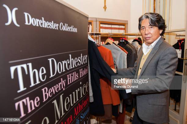 Designer Kenzo Takada attends the 2012 Dorchester Collection Fashion Prize shortlist session at Hotel Plaza Athenee on June 26 2012 in Paris France