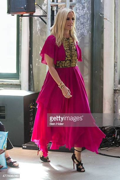 Designer Keren Craig attends the AOL BUILD Speakers Series with Marchesa cofounders Georgina Chapman and Keren Craig at AOL Studios In New York on...
