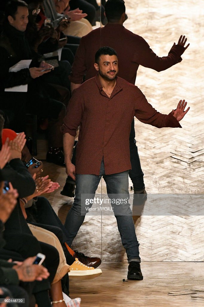 Designer Khalid bin Sultan Al Qasimi walks the runway at the Qasimi show during London Fashion Week Men's January 2018 at 100 Sydney Street on January 6, 2018 in London, England.