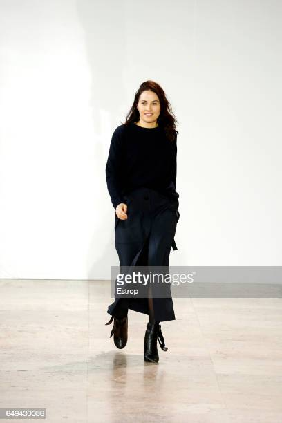 Designer Kim Ellery walks the runway during the Ellery show as part of the Paris Fashion Week Womenswear Fall/Winter 2017/2018 on March 7 2017 in...