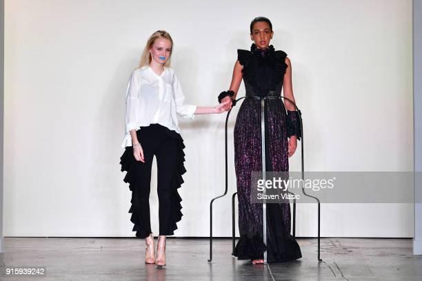 Designer Kim Tiziana Rottmuller walks the runway for Global Fashion Collective Presents Kim Tiziana Rottmuller during New York Fashion Week First...