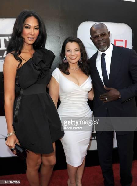 Designer Kimora Lee actress Fran Drescher and actor Djimon Hounsou arrive at the 39th AFI Life Achievement Award honoring Morgan Freeman held at Sony...