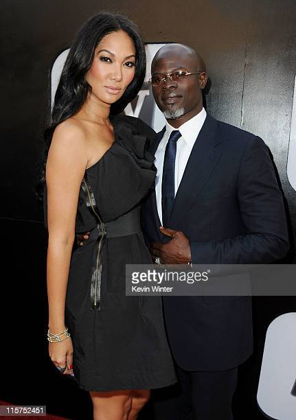 Designer Kimora Lee and actor Djimon Hounsou arrive at the 39th AFI Life Achievement Award honoring Morgan Freeman held at Sony Pictures Studios on...