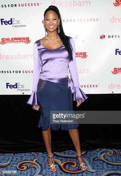 """Designer Kimora Lee Simmons attends the Dress For Success """"April In Paris"""" annual gala at Marriott Marquis on April 19, 2005 in New York City."""
