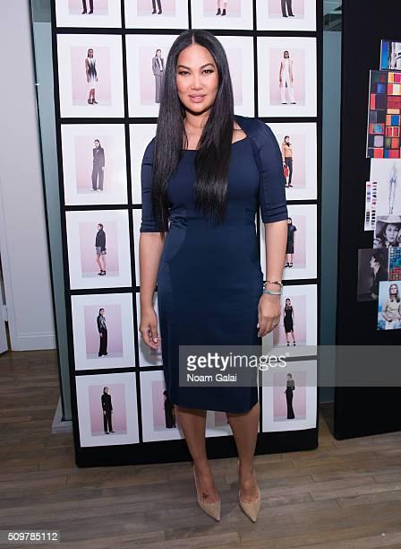 Designer Kimora Lee Simmons poses at the Kimora Lee Simmons presentation during Fall 2016 New York Fashion Week on February 12 2016 in New York City