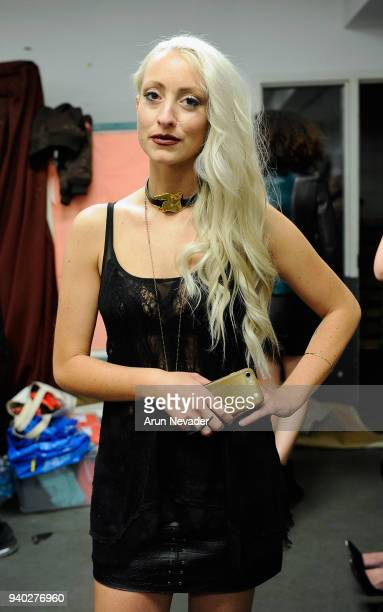 Designer Kirsten Ley is seen backstage at Vancouver Fashion Week at Angel Orensanz Foundation on March 25 2018 in Vancouver Canada