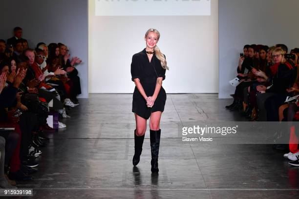 Designer Kirsten Ley walks the runway for Global Fashion Collective Presents KIRSTEN LEY during New York Fashion Week First Stage at Industria...