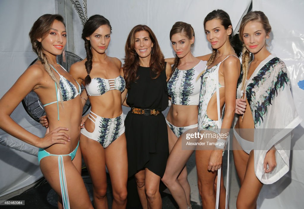 Designer Kirsten Sarkisian is seen backstage at Belusso fashion show during Mercedes-Benz Fashion Week Swim 2015 at Oasis at the Raleigh Hotel on July 20, 2014 in Miami, Florida.