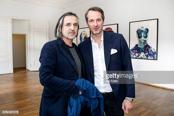 Designer Kostas Murkudis and Marcus Kurz cofounder of the Berliner Modesalon at 'Der Berliner Fotografie Salon Edition 1' on April 29 2016 in Berlin...