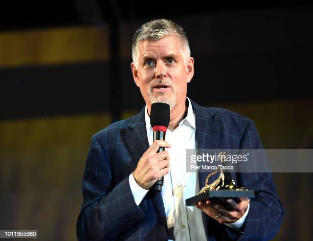 Designer Kyle Cooper attends the Pardo Vision Award ceremony during the 71st Locarno Film Festival on August 5 2018 in Locarno Switzerland