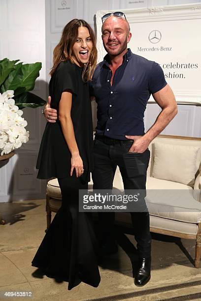 Designer Kym Ellery and designer Alex Perry attend the MercedesBenz Presents Dinner following the Ellery Show at MercedesBenz Fashion Week Australia...