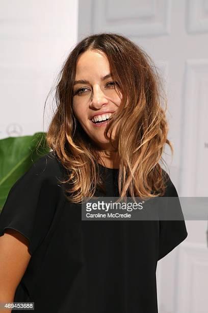 Designer Kym Ellery attends the MercedesBenz Presents Dinner following the Ellery Show at MercedesBenz Fashion Week Australia 2015 at Carriageworks...