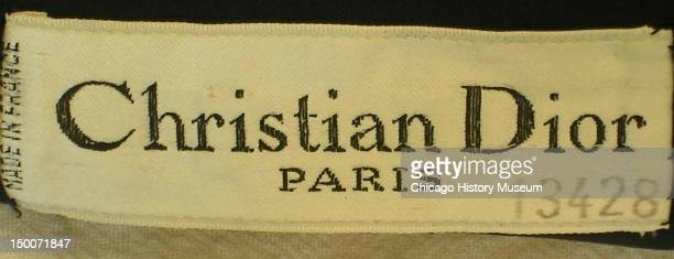 Designer label inside skirt 1951 Wool by Christian Dior From Dior's 1949 'New Look' collection