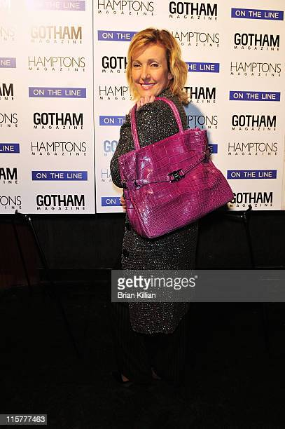 Designer Lana Marks attends Niche Media's Gotham and Hamptons Magazines celebration of Serena Williams' New Book On The Line at the M2 Ultra Lounge...
