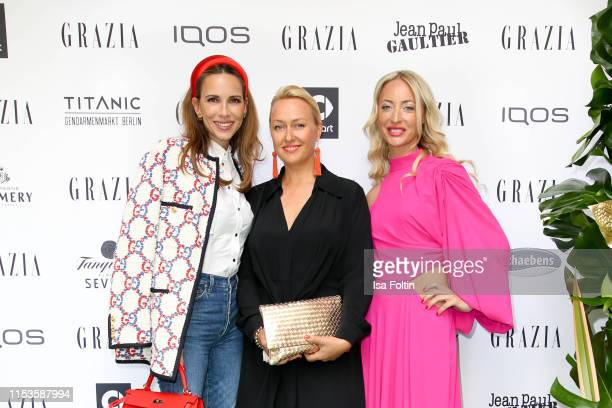 Designer Lana Mueller and guests during the Grazia Fashion Night at Titanic Hotel on July 3 2019 in Berlin Germany