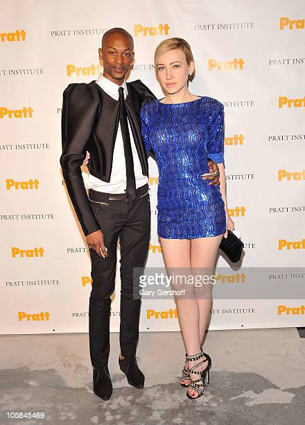 Designer LaQuan Smith and socialite Devorah Rose attend the Pratt Institute Scholarship Gala at 7 World Trade Center on October 20 2010 in New York...