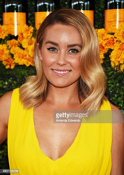 Designer Lauren Conrad arrives at the SixthAnnual Veuve Clicquot Polo Classic Los Angeles at Will Rogers State Historic Park on October 17 2015 in...