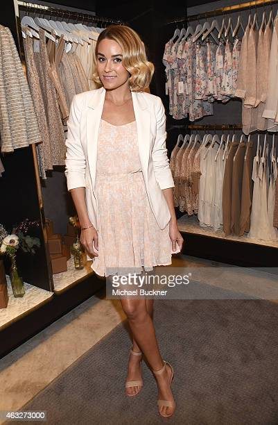 Designer Lauren Conrad attends the Paper Crown Rifle Paper Co PopUp Shop With Lauren Conrad and Anna Bond At The Grove at The Grove on February 12...