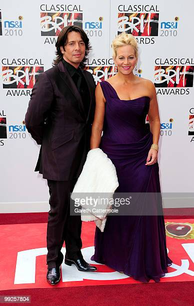 Designer Laurence LlewelynBowen and wife Jackie attend the Classical BRIT Awards at Royal Albert Hall on May 13 2010 in London England