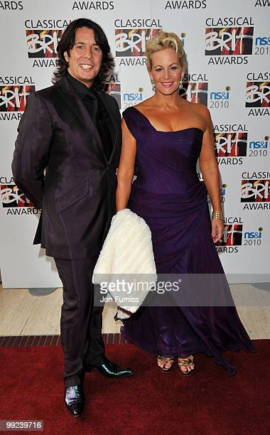 Designer Laurence LlewelynBowen and wife Jackie attends the Classical BRIT Awards held at The Royal Albert Hall on May 13 2010 in London England