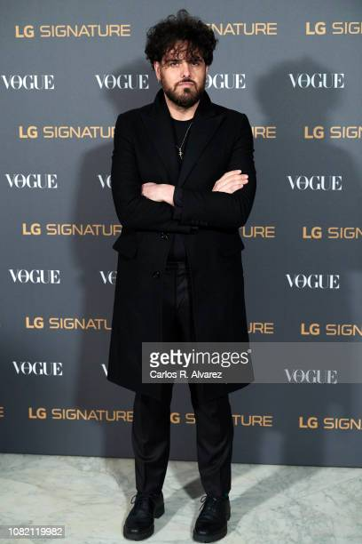 Designer Leandro Cano attends 'Vogue LG Signature' photocall at Carlos Maria de Castro Palace on December 13 2018 in Madrid Spain