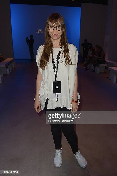 Designer Leanne Marshall attends the Leanne Marshall fashion show at New York Fashion Week The Shows September 2016 at The Gallery Skylight at...