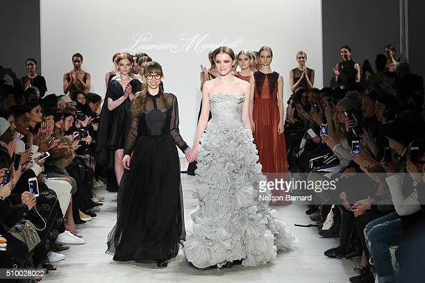 Designer Leanne Marshall walks the runway wearing Leanne Marshall Fall 2016 during New York Fashion Week The Shows at The Gallery Skylight at...