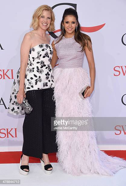 Designer Lela Rose and Nina Dobrev attend the 2015 CFDA Fashion Awards at Alice Tully Hall at Lincoln Center on June 1 2015 in New York City