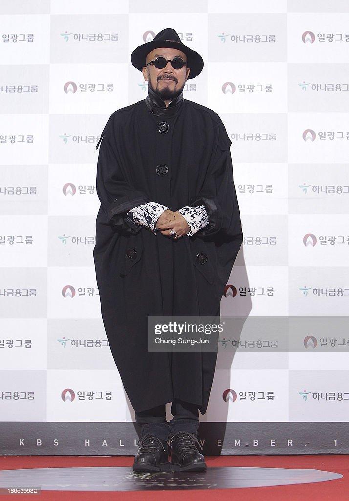 Designer Lie Sang-Bong arrives for the 50th Daejong Film Awards at KBS hall on November 1, 2013 in Seoul, South Korea.