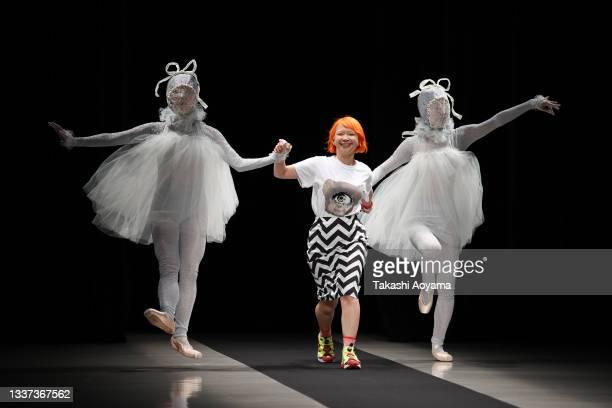 Designer Lim Asafuji walks on the runway for pays des fees show during Rakuten Fashion Week TOKYO 2022 spring/summer at Shibuya Hikarie Hall A on...