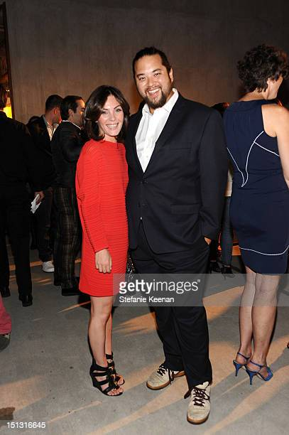 Designer Linda Monaskanian and Maximillian Chow attend FENDI Baguettemania celebrating 15 Years of the Baguette at Maxfield LA on September 5 2012 in...