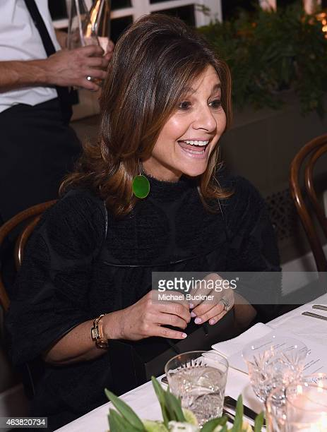 Designer Lisa Perry attends VANITY FAIR and Barneys New York Dinner benefiting OXFAM hosted by Rooney Mara at Chateau Marmont on February 18 2015 in...