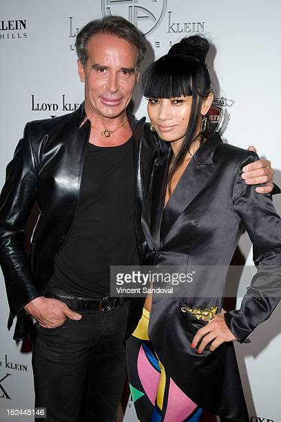 Designer Lloyd Klein and actress Bai Ling attend the Lloyd Klein Spring 2013 Collection Preview at Lure on September 20 2012 in Hollywood California