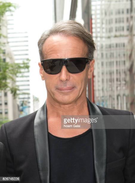 Designer Lloyd Klein is seen outside the Baccarat Hotel on August 5 2017 in New York City