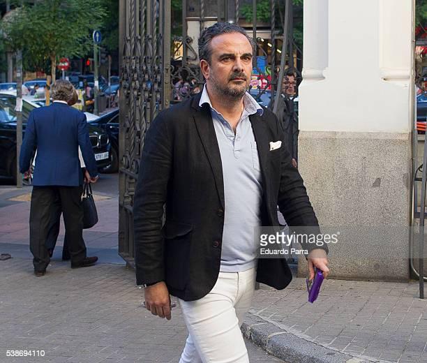 Designer Lorenzo Castillo attends the Marquesa de San Eduardo funeral at La Concepcion de nuestra Senora church on June 7 2016 in Madrid Spain