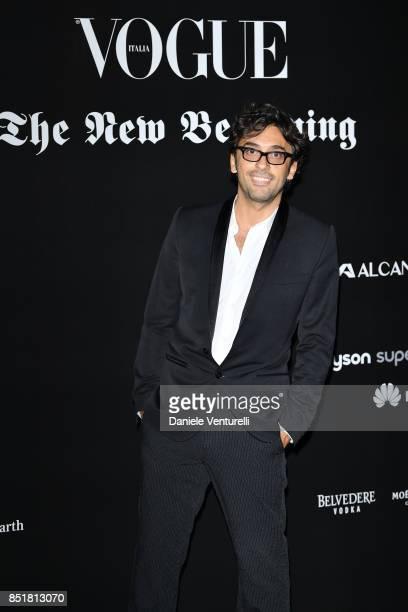 Designer Lorenzo Serafini attends theVogue Italia 'The New Beginning' Party during Milan Fashion Week Spring/Summer 2018 on September 22 2017 in...