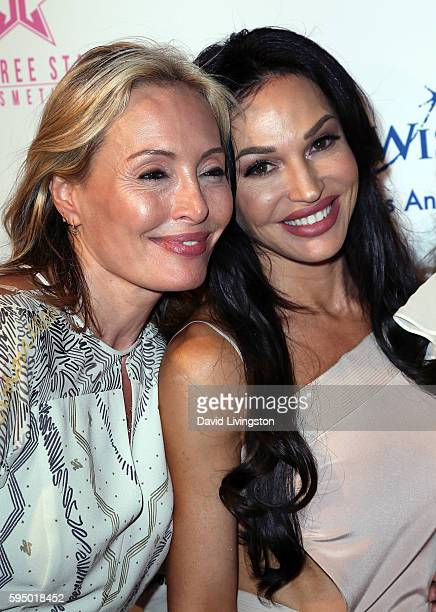 Designer Lubov Azria and actress Jolene Blalock attend the MakeAWish Greater Los Angeles Fashion Fundraiser at Taglyan Cultural Complex on August 24...