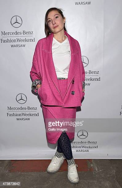 Designer Lucia Russo attends MercedesBenz Fashion Week on May 16 2015 at Soho Factory in Warsaw Poland