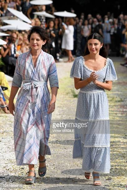 Designer Luisa Beccaria and her daughter Lucilla Bonaccorsi walks the runway at the Luisa Beccaria Ready to Wear fashion show during Milan Fashion...