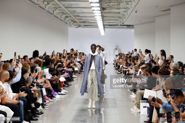 Designer Luke Meier walks the runway during the OAMC Menswear Spring/Summer 2019 show as part of Paris Fashion Week on June 20 2018 in Paris France