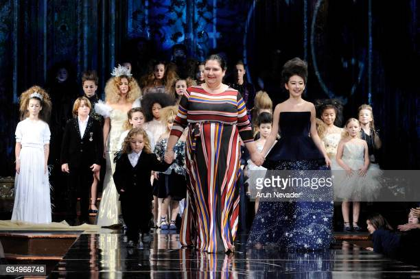 Designer Lulu Et Gigi walks the runway during Lulu Et Gigi at New York Fashion Week Art Hearts Fashion NYFW FW/17 at The Angel Orensanz Foundation on...