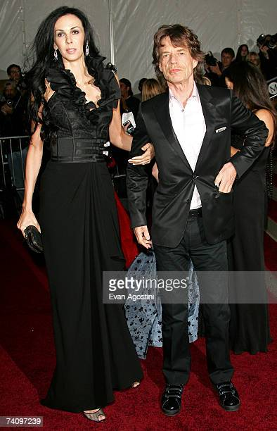 """Designer L'Wren Scott and musician Mick Jagger attend the Metropolitan Museum of Art Costume Institute Benefit Gala """"Poiret: King Of Fashion"""" at the..."""