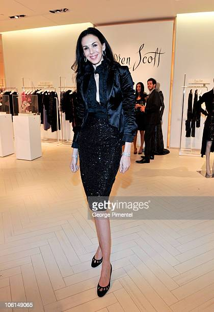 Designer L'Wren Scott attends a cocktail reception in her honour at The Room The Bay on October 26 2010 in Toronto Canada