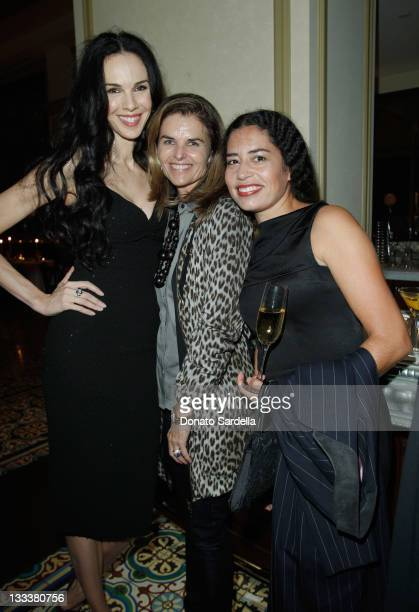 Designer L'Wren Scott Maria Shriverand Karis Jagger Watson attend the Barneys New York and Christina Hendricks Fete L'Wren Scott and Her Handbag...