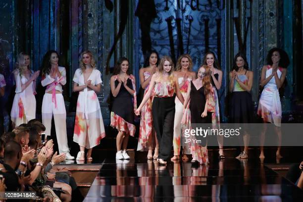 Designer Madeline Stuart walks the runway during the MADELINE STUART 21 REASONS WHY Show At New York Fashion Week Powered By Art Hearts Fashion NYFW...
