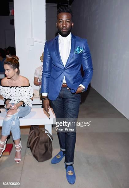 Designer Mahiri Takai attends the Irina Vitjaz fashion show during New York Fashion Week The Shows September 2016 at The Gallery Skylight at Clarkson...