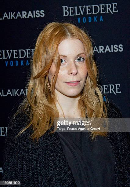 Designer Malaika Raiss attends the 'Malaikaraiss' fashion show at Villa Elisabeth during MercedesBenz Fashion Week Autumn/Winter 2012/14 on January...